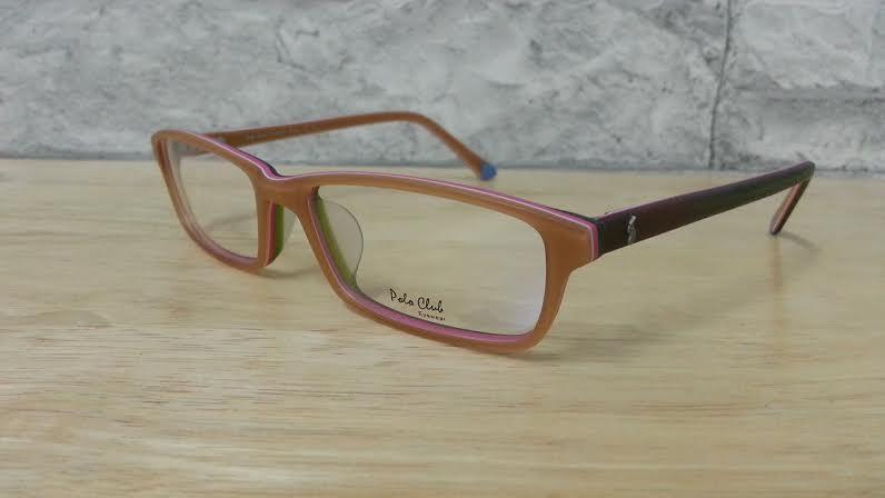 POLO club pc 5558 กรอบแว่นตาพร้อมเลนส์ มัลติโค๊ตHOYA ป้องกันรังสีคอม