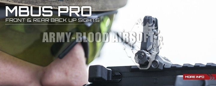 Magpul MBUS Pro Front Rear Back Up Sight (BK)prev next