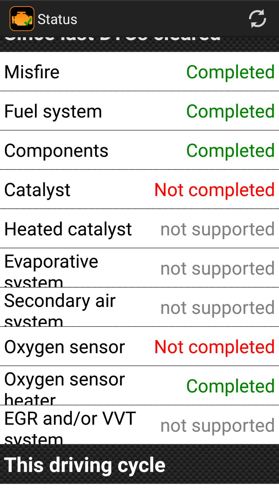 Heated catalyst not supported