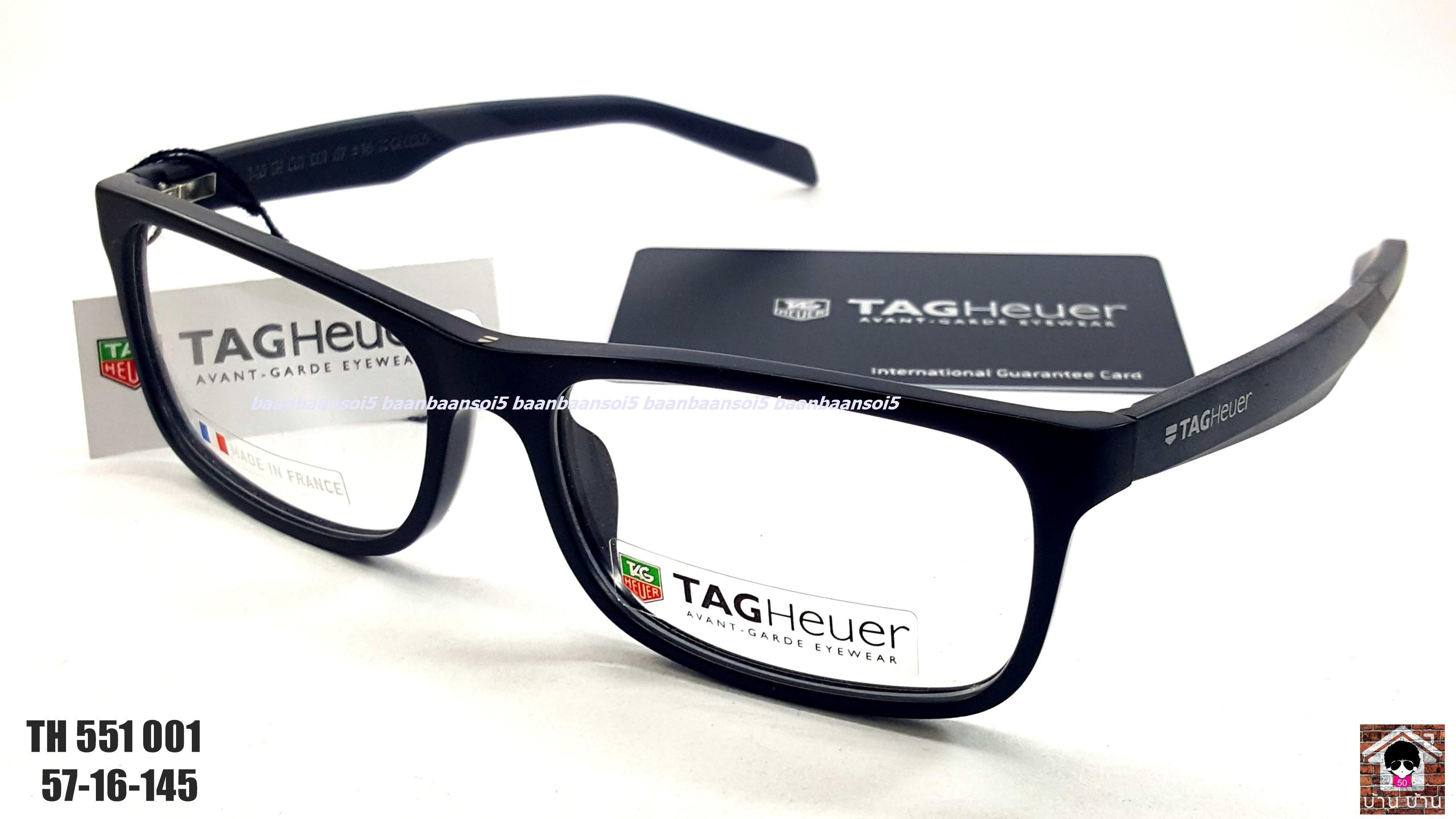 TAG HEUER TH 551 001 Eyeglasses Authentic โปรโมชั่น กรอบแว่นตาพร้อมเลนส์ HOYA ราคา 6,200 บาท