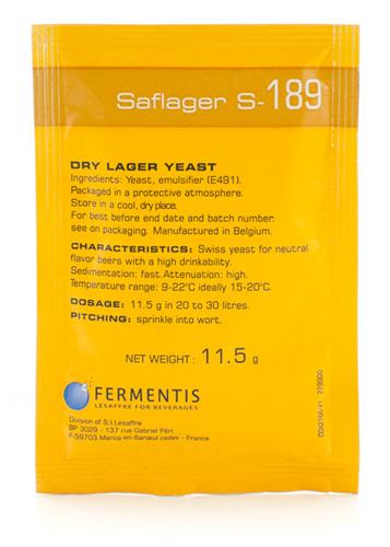 Fermentis Saflager S-189 11.5g