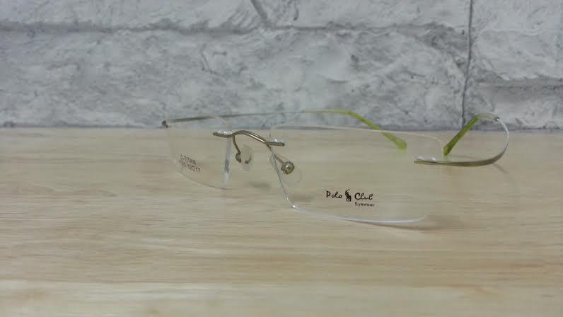 POLO club 220 กรอบแว่นตาพร้อมเลนส์ มัลติโค๊ตHOYA ป้องกันรังสีคอม