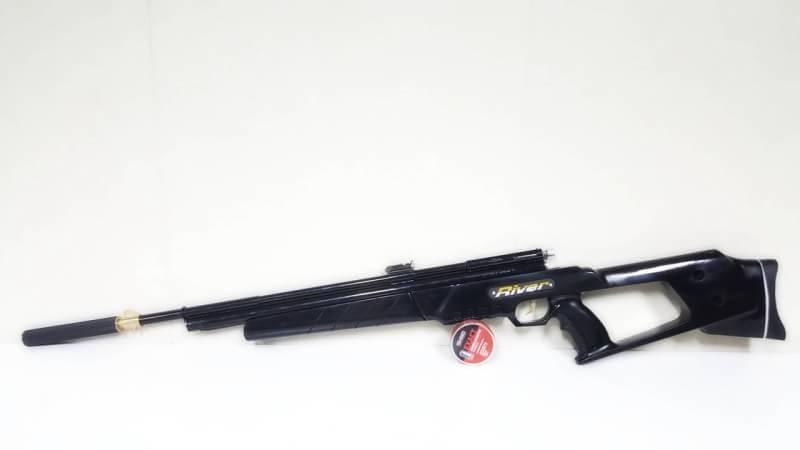 New.ปืนอัดลมปั๊มอินโดSharp River 5.5mm.cal. Slide Pump Air Rifle เบอร์ 2 ✔แรง 600Fps. ✔Body Wood ไม้ ✔Slide Pump 3-9 ครั้ง ✔ป้อนกระสุนทีละนัดยิง ✔ลำกล้อง Barrel 67cm ✔มาพร้อมศูนย์หน้า-หลัง ✔หวังผล 25-35m.ไก