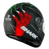 SHARK S600 PINLOCK TERROR Mat Black Red Green KRG/HE2412