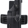 Tactical Holster with Top Rail for Glock G17 G18 (BK)