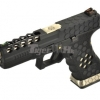 New.Armorer Works Hex Cut Signature G17 GBB Pistol (Black) [AW-GBB-G17-HEXCUT-BSB] ราคาพิเศษ
