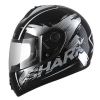SHARK S600 PINLOCK EXIT Black Chrome White KUW/HE2460