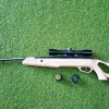 New.ปืนอัดลมSwissArms Tac1 5.5mm.cal. Aiir Rifle เบอร์ 2 Price 1u,500 THB. ✔Weight น้ำหนัก : 3.1kg. ✔Caliber ลำกล้อง : 5.5mm #2 ✔Max Velocity แรง : 950fps ✔Powerplant : สปริง Spring-piston ✔Includes กล้อง Swiss Arms : 4x
