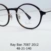Rayban RX 7087 2012 โปรโมชั่น กรอบแว่นตาพร้อมเลนส์ HOYA ราคา 5,200 บาท