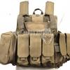 MAR Tactical CIRAS Armor Vest USMC Force Recon HEAVY DUTY Tactical Molle Combat Strike Plate Carrier Vest (CB)