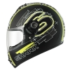 SHARK S600 PINLOCK SWAG Mat Black yellow white KYW/HE2407