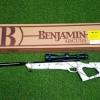New.ปืนอัดลมBenjamin Trail NP2®, Realtree AP® Snow Camo Air Rifle เบอร์ 2 ✔น้ำหนัก Weight9.7 ✔ระบบหักลำกล้องโช๊คแก๊ส Nitro ✔ลำกล้อง Barrel Length 15.75 ✔ความยาว Overall Length 46.25 ✔พร้อมกล้องScope Century 3-9×40 ปรับหล