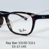 Rayban RX 5315D 5211 โปรโมชั่น กรอบแว่นตาพร้อมเลนส์ HOYA ราคา 2,900 บาท