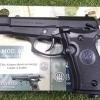 New.ปืนสั้นอัดแก๊ส Umarex Beretta M84 4.5mm. Co2 Pistol. ✔BBMagazine Capacity บรรจุลูก : 17 shot(s) ✔Caliber ลูกเหล็กกลม : 4,5 mm (.177) ✔ลำกล้องยาว Length: 177 mm ✔Trigger: Single Action ✔Weight น้ำหนัก 650g ✔Sys