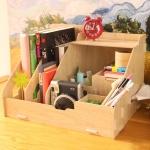 DIY Box ชั้นเก็บของบนโต๊ะทำงาน