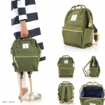 กระเป๋า Anello ขนาด mini สีเขียว Khaki ของแท้ นำเข้าจากญี่ปุ่น พร้อมส่ง
