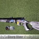 Newซปืนอัดลมปั๊มอินโด Sharp River Side Pump Air Rifle ท้าย3รูสีดำเทา #2 ✔แรง 600Fps. ✔พร้อมชุดซ่อมโอริง แกนเหล็กดันลูก ✔หม้อลมขนาดกลางโยกปั๊ม 3-9 ครั้ง ✔พร้อมศูนย์เล็ง สามารถติดกล้องได้ ✔ระยะหวังผล 20-25m. ขึ้นกับการปั๊ม