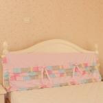 Pre-Order ผ้าคลุมหัวเตียงสีชมพูแต่งระบาย