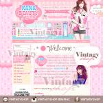 ออกแบบเว็บร้านค้าออนไลน์ สไตล์เกาหลี สีชมพูน่ารักๆ