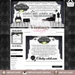 ออกแบบเว็บร้านค้าออนไลน์ สไตล์วินเทจ สีขาวดำ เรียบหรูไฮโซ