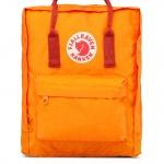 กระเป๋าเป้ Fjallraven Kanken Classic สีส้ม สายสะพายแดง Burnt Orange & Deepred