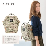 กระเป๋า Anello ขนาด mini สี Camo Khaki ลายทหารสีอ่อน ของแท้ นำเข้าจากญี่ปุ่น พร้อมส่ง
