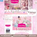 ออกแบบเว็บร้านค้าออนไลน์ สไตล์โมเดิร์น สีชมพูฮอตพิงค์สดใส เรียบหรูดูดี
