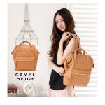 กระเป๋า Anello แบบหนัง PU ขนาดเล็ก mini สี Beige ของแท้ นำเข้าจากญี่ปุ่น พร้อมส่ง