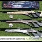 New.อัดลมปั๊มอินโดSharp River Colors Side Pump .177cal.Air Rifle ท้ายสไนเปอร์เบอร์1