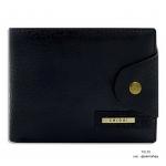 กระเป๋าสตางค์ผู้ชาย หนังแท้ ทรงสั้น Shidai - สีดำ