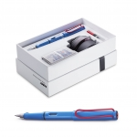 Lamy Safari Royal Blue with Red Clip Limited Edition Box Set
