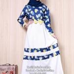 ☆ ✧ A-Line Printed Milin Dress✧ ☆ชุดเดรสมุสลิมแฟชั่นพร้อมผ้าพันแสนสวย