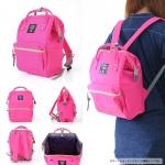 กระเป๋า Anello ขนาด mini สี ชมพูสด Shocking Pink ของแท้ นำเข้าจากญี่ปุ่น พร้อมส่ง