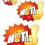 52004 M ป้ายระเบิด HOT ไฟ Size M (บรรจุ 10 แผ่น ต่อ 1 ห่อ) thumbnail 2