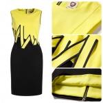 DR_8053, Coast Dress, ชุดเดรสทำงานทรง Sheath, Aug, 2015, Yellow, S-XXL, ~1500-1999