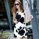 DR_8043, Runway Style, เดรสแบรนด์เปลี่ยนป้าย, D&G Fashion, Aug, 2015, Dress, White&Black, S-M-L-XL, ~2000-2999