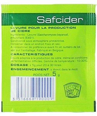 SafCider Yeast 5g.