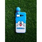 TPU ลายเส้นนูนแมวสีฟ้าตาโตเกาะหลัง A5(2017)