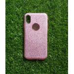 TPU กากเพชร 3in1 iphoneX สีชมพู