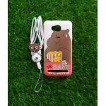 TPU moomin พร้อมสาย Huawei Y3II(Y32) ลายหมีน้ำตาลสีขาว