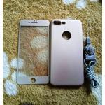 PC พร้อมกระจกสี(มีสายห้อยคอ) iphone7 plus /iphone8 plus(ใช้เคสตัวเดียวกัน)สีทอง