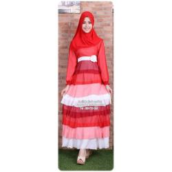 ☆ ✧ Colourful Layered Chiffon Dress✧ ☆RED