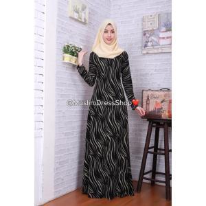 ชุดเดรสมุสลิมแฟชั่นพร้อมผ้าพันแสนสวย ✧☆ Metallic A-Line Dresses#2 ☆ ✧