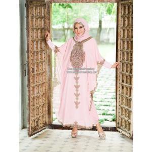 ชุดเดรสชีฟองทรงค้างคาวพร้อมชุดอินเนอร์ Pink