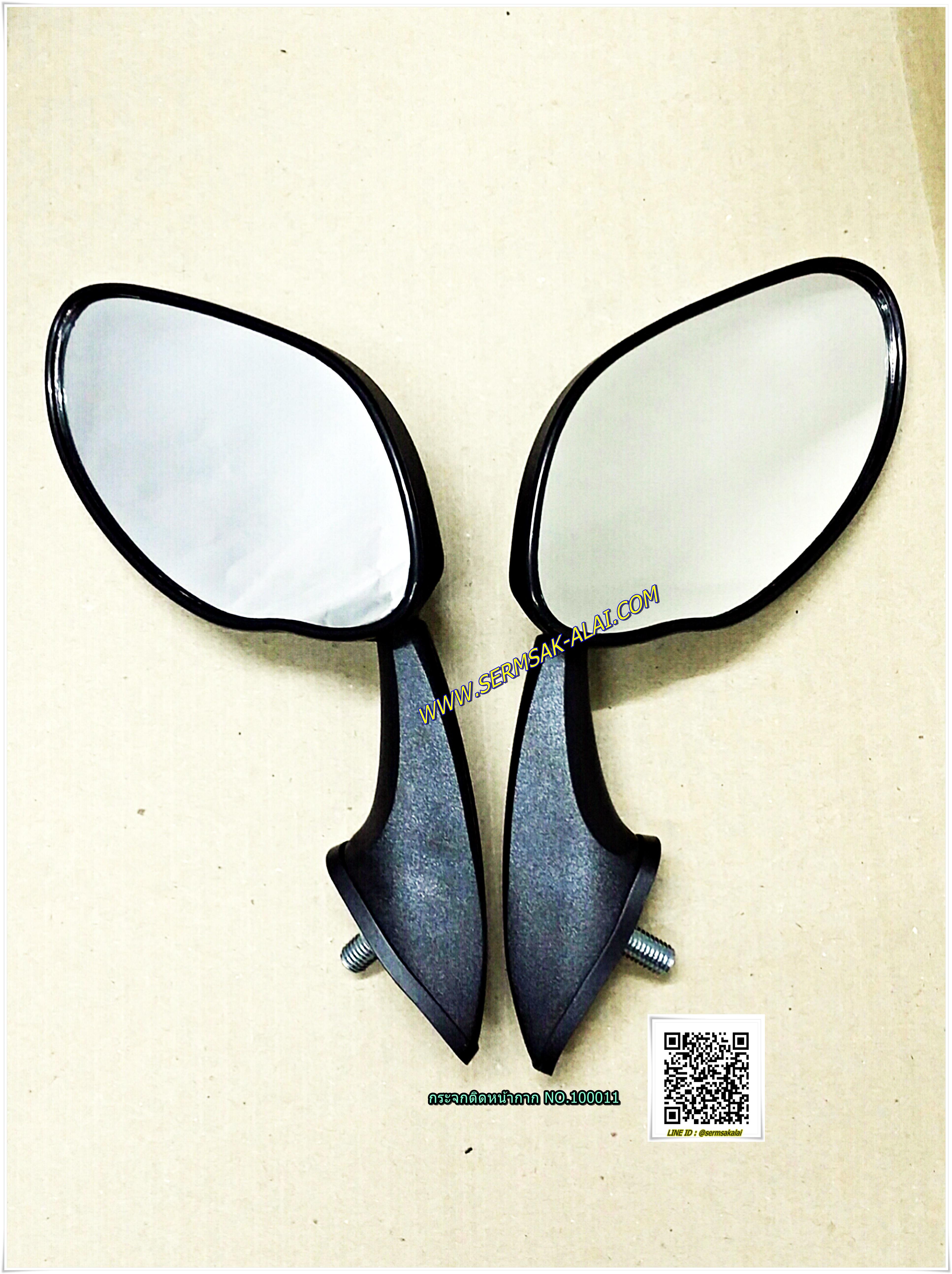 ของแต่ง PCX กระจก มองหลัง แต่ง กระจกติดหน้ากาก น๊อต 8 mm พลาสติก สีดำ N0.100011