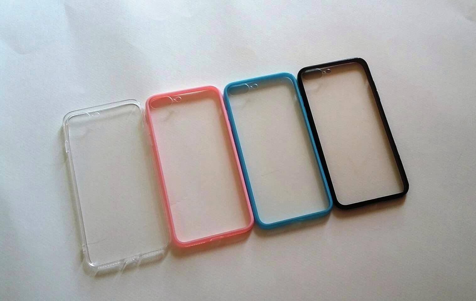 TPU ใสขอบสี iphone7 iphone7 plus