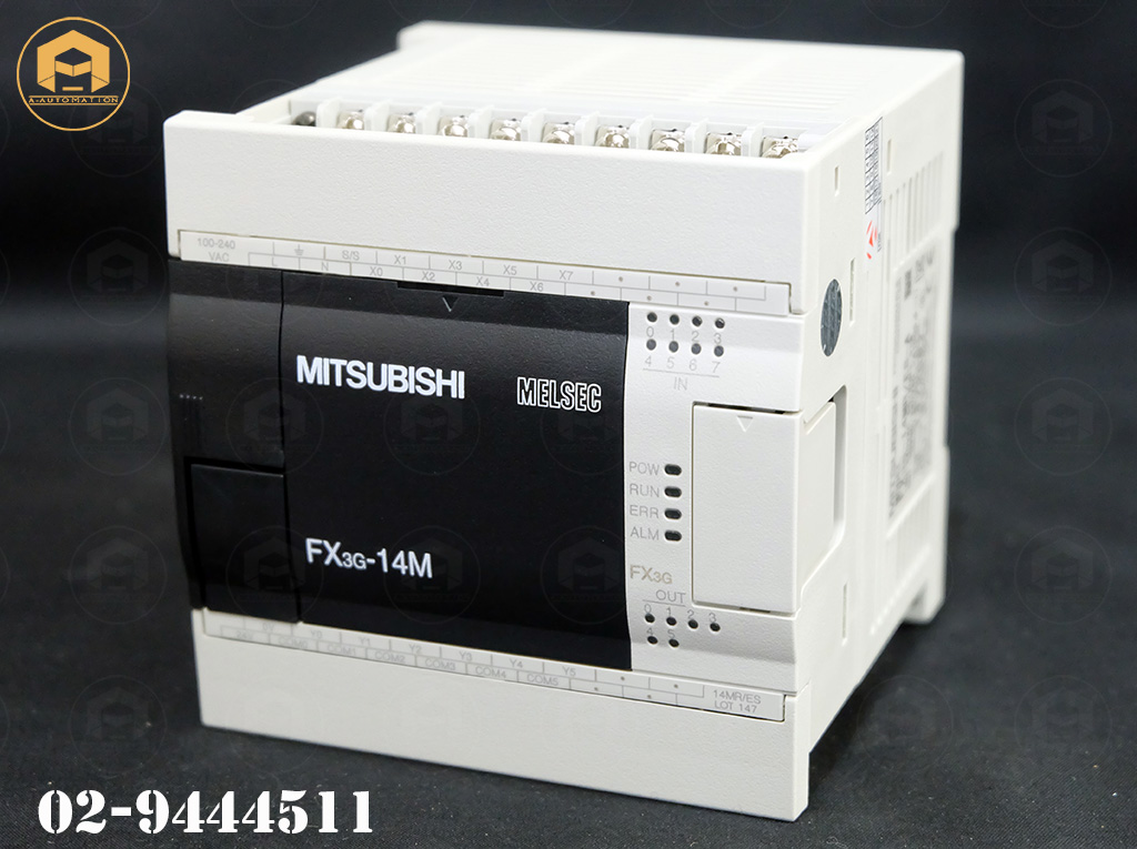 Plc Mitsubishi Model:FX3G-14MR/ES-A (สินค้าใหม่)