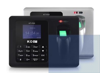 เครื่องทาบบัตร พร้อมอ่านลายนิ้วมือ KOB KT-F03