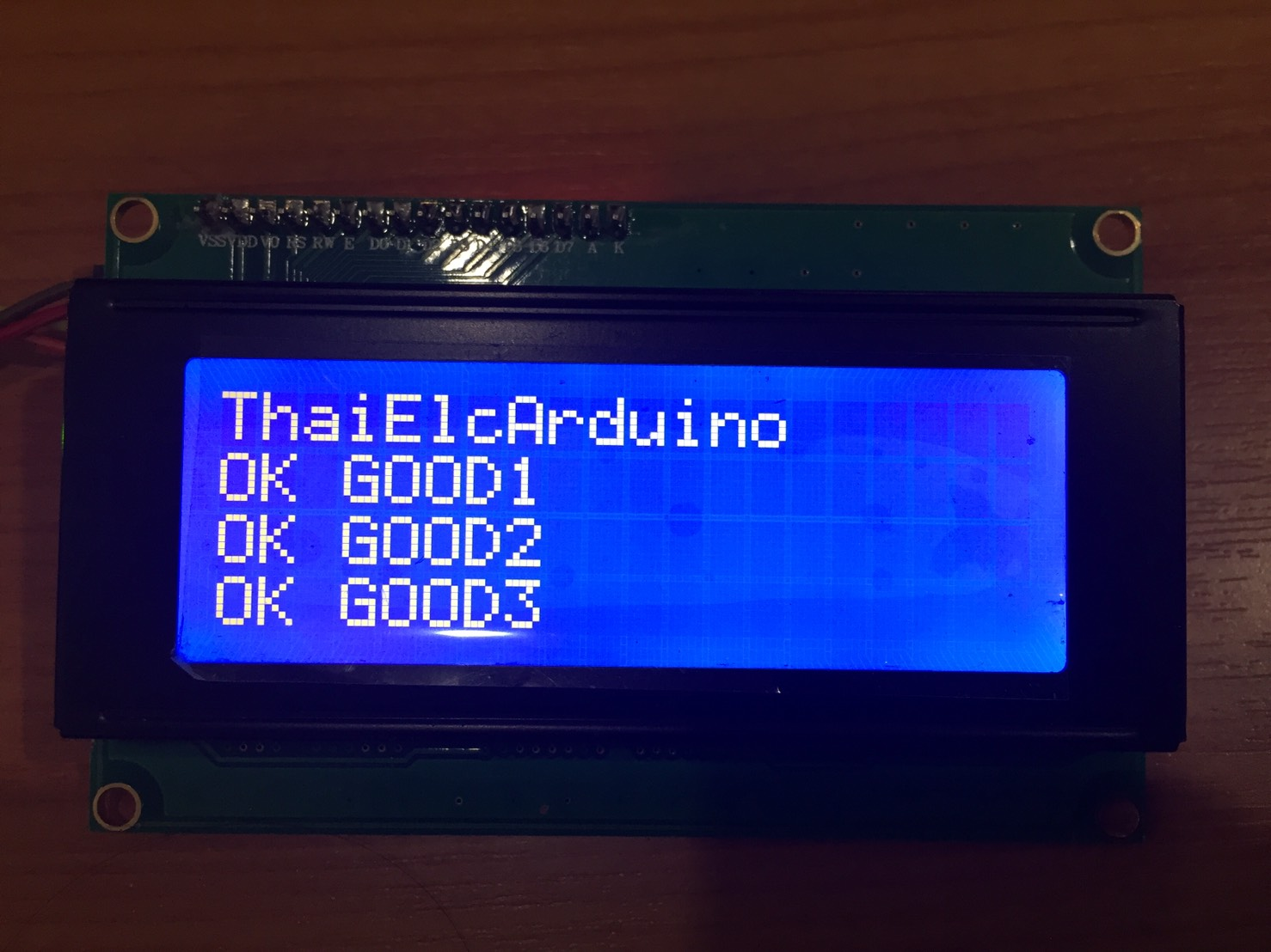 LCD Character Display 20x4 (สีฟ้า) with I2C Serial interface Board
