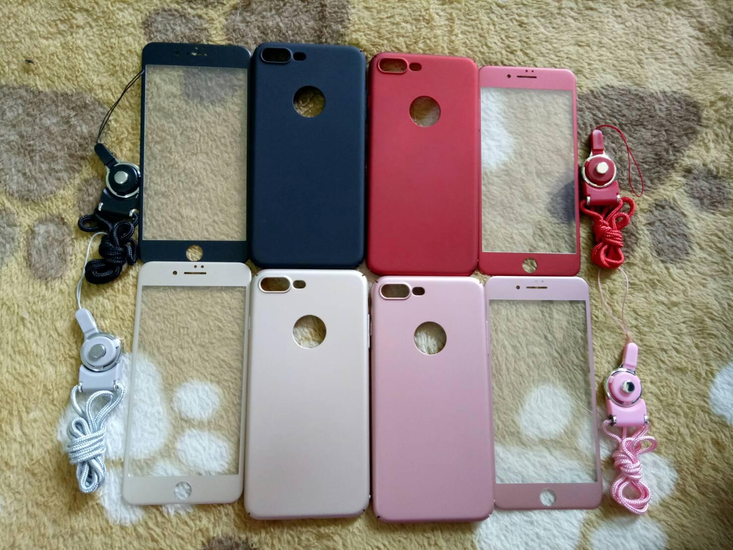 PC พร้อมกระจกสี(มีสายห้อยคอ) iphone7 plus/iphone8 plus(ใช้เคสตัวเดียวกัน)
